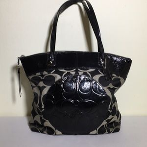 Coach Laura signature tote and leather wristlet